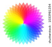 rainbow color wheel. colorful... | Shutterstock .eps vector #1033981354