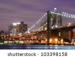 Brooklyn Bridge Spanning The...