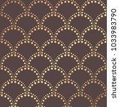 art deco pattern. golden... | Shutterstock .eps vector #1033983790
