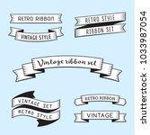 black and white vintage ribbons ... | Shutterstock .eps vector #1033987054