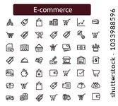e commerce. outline web icons... | Shutterstock .eps vector #1033988596