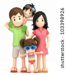 3d render of a family | Shutterstock . vector #103398926