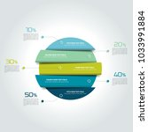 3d circle  round infographic ... | Shutterstock .eps vector #1033991884