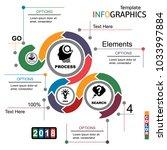 infographics business template... | Shutterstock .eps vector #1033997884