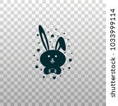cute bunny  rabbit or hare face ... | Shutterstock .eps vector #1033999114
