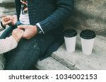 morning coffee with love | Shutterstock . vector #1034002153