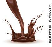 vector realistic chocolate... | Shutterstock .eps vector #1034002549