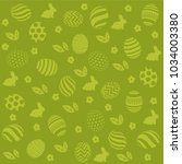 easter holiday green background ... | Shutterstock .eps vector #1034003380