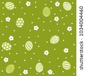 easter holiday green background ... | Shutterstock .eps vector #1034004460