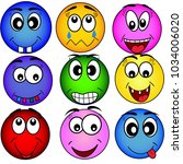 emoticons vector set of cartoon ... | Shutterstock .eps vector #1034006020