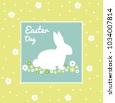 easter day greeting card | Shutterstock .eps vector #1034007814