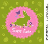 easter day greeting card | Shutterstock .eps vector #1034008363