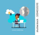 businessman or a clerk working... | Shutterstock .eps vector #1034010193
