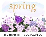 spring time greeing card. frame ... | Shutterstock .eps vector #1034010520