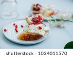 appetizer bruschetta with... | Shutterstock . vector #1034011570
