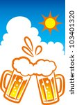 beer and blue sky | Shutterstock .eps vector #103401320