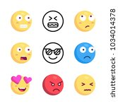 icons emoji. vector scared... | Shutterstock .eps vector #1034014378