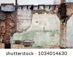 brick block building broke... | Shutterstock . vector #1034014630