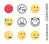 icons emoji. vector smiling... | Shutterstock .eps vector #1034014840