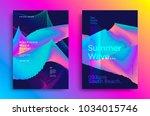summer wave poster design.... | Shutterstock .eps vector #1034015746