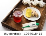 wooden tablet for a sick person ... | Shutterstock . vector #1034018416
