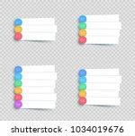 vector white banner steps... | Shutterstock .eps vector #1034019676