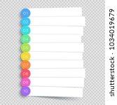 vector white banner steps... | Shutterstock .eps vector #1034019679