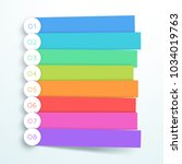 vector colorful banner steps... | Shutterstock .eps vector #1034019763