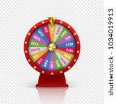 wheel of fortune roulette for... | Shutterstock .eps vector #1034019913