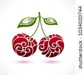 decorative ornamental sour... | Shutterstock .eps vector #1034020744