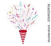vector confetti. festive... | Shutterstock .eps vector #1034020936