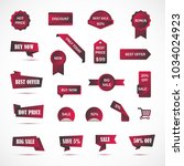 vector stickers  price tag ... | Shutterstock .eps vector #1034024923