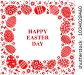 vector illustrations of easter... | Shutterstock .eps vector #1034028460