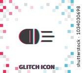headlight  glitch effect vector ... | Shutterstock .eps vector #1034030698