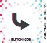 bent to right arrow  glitch... | Shutterstock .eps vector #1034030728