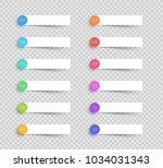 vector white banner elements... | Shutterstock .eps vector #1034031343