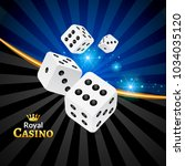 dice vector casino design... | Shutterstock .eps vector #1034035120