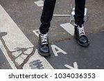 paris january 24  2017. street... | Shutterstock . vector #1034036353