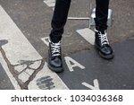 paris january 24  2017. street...   Shutterstock . vector #1034036368