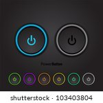 Black Power Buttons With Led...