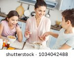 happy motherhood. beautiful... | Shutterstock . vector #1034042488