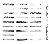 black ink vector grunge brushes ... | Shutterstock .eps vector #1034044930