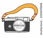 let the adventure begin word... | Shutterstock .eps vector #1034045848