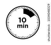 set of timers   ten minutes ... | Shutterstock .eps vector #1034048329