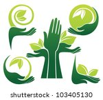 vector collection of ecological ... | Shutterstock .eps vector #103405130