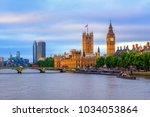 london  england  the big ben ... | Shutterstock . vector #1034053864