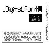 digital font. alarm clock... | Shutterstock .eps vector #1034057110