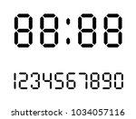 electronic figures. digital... | Shutterstock .eps vector #1034057116