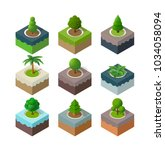natural set park urban... | Shutterstock .eps vector #1034058094