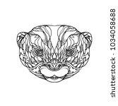 doodle art illustration of head ...   Shutterstock .eps vector #1034058688